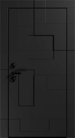 Входная дверь «Graphic» в цвете, Графит черный (эмаль)