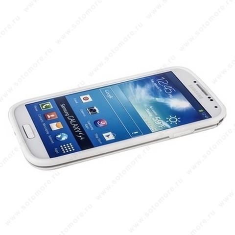 Бампер GRIFFIN для Samsung Galaxy S4 i9500/ i9505 белый с прозрачной полосой