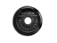 Диск для штанги стальной, цельнометаллический, обрезиненный чер. Диаметр внутренний 26 мм. Вес 1,5 кг.
