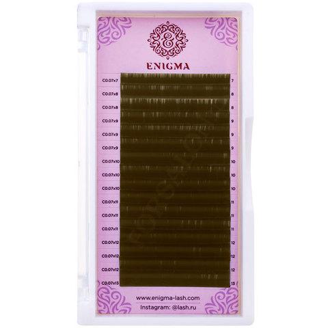 Черные ресницы Enigma микс 0,07/L/7-14 mm (16 линий)