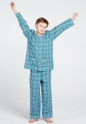 Хлопковая пижама для мальчика в классическом стиле