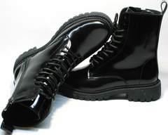 Зимние ботинки из натуральной кожи женские Ari Andano 740 All Black.