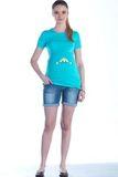 Футболка для беременных 01444 голубой
