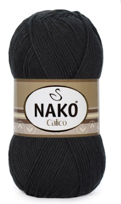 Пряжа Nako Calico черный 217