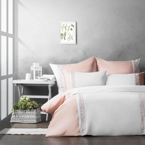 Комплект постельного белья сатин Каролина розовый
