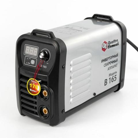 Аппарат электродной сварки, инвертор QUATTRO ELEMENTI B 165 (165 А, ПВ 80%, до 4.0 мм, 4.8 (772-401)