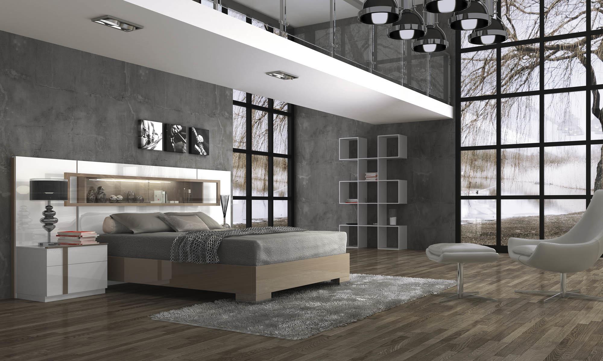 Кровать Fenicia Mobiliario 503 VITRINA Blanco-Corda