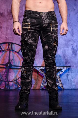 Мужские мраморные джинсы Robins Jean Mateo Marble Black