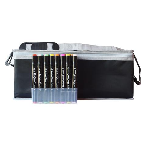 Набор спиртовых маркеров TOUCH COOL в сумке-пенале с наплечным ремнем, 204 цвета