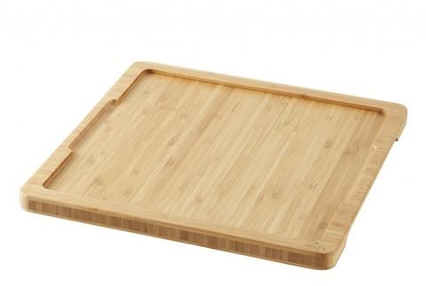 Бамбуковый квадратный поднос для блюда, артикул 641794, серия Basalt