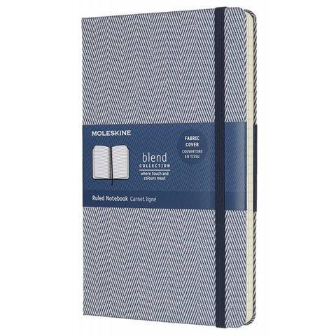 Блокнот Moleskine Limited Edition BLEND LCBD02QP060B Large 130х210мм обложка текстиль 240стр. линейка голубой