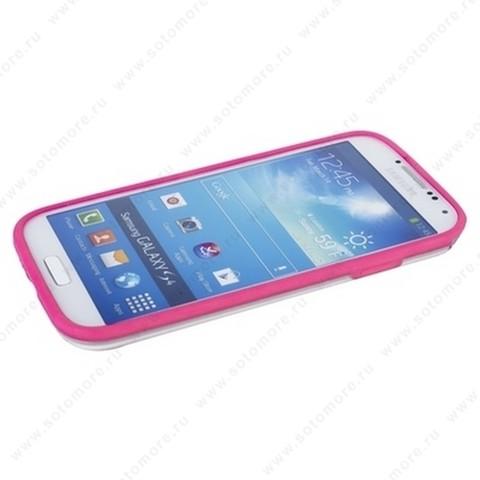 Бампер GRIFFIN для Samsung Galaxy S4 i9500/ i9505 розовый с прозрачной полосой