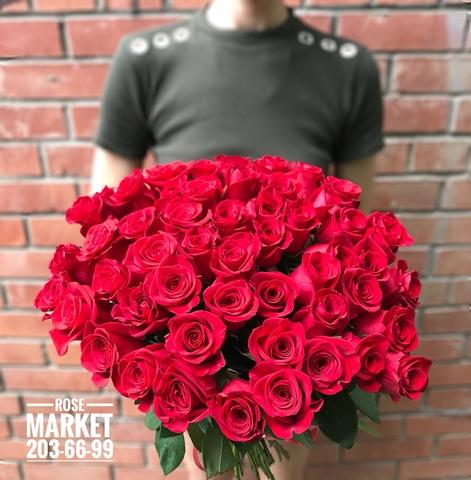 51 красная роза 70 см (RMFlora) #1968