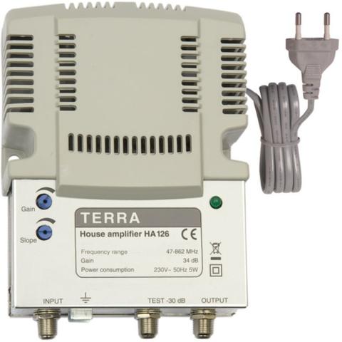 Усилитель ТВ сигнала Terra HA 126 антенный вход / выход, 34 dB