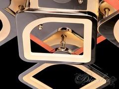 Хромовая Светодиодная люстра с димером и подсветкой 160W