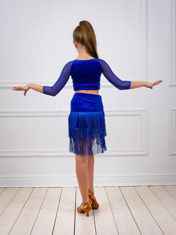 Детская юбка с бахромой