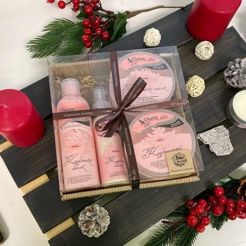 Набор подарочный большой Клубника-Милк | Chocolatte