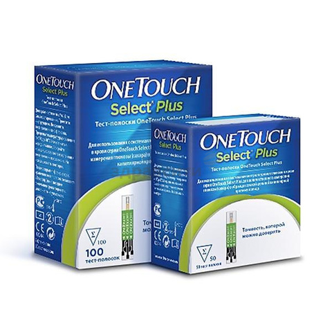Тест-полоски OneTouch (Уан тач) Select Plus 50 шт.
