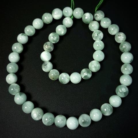 Бусины ангелит зеленый АА шар гладкий 8,5 мм 23 бусины