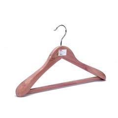 Вешалка-плечики анатомическая деревянная Attache с перекладиной натуральная (размер 48-50)