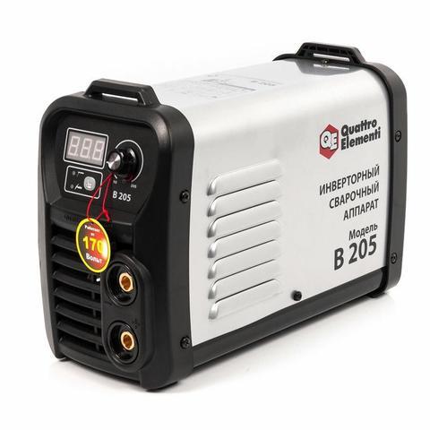 Аппарат электродной сварки, инвертор QUATTRO ELEMENTI B 205 (205 А, ПВ 80%, до 5.0 мм, 5.3 (772-425)
