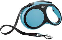 Поводок-рулетка Flexi New Comfort L (до 60 кг) лента 5 м черный/синий