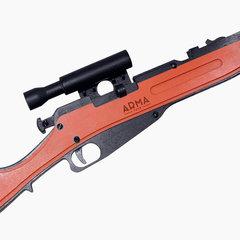Резинкострел в сборе ARMA Винтовка Мосина с прицелом и штыком