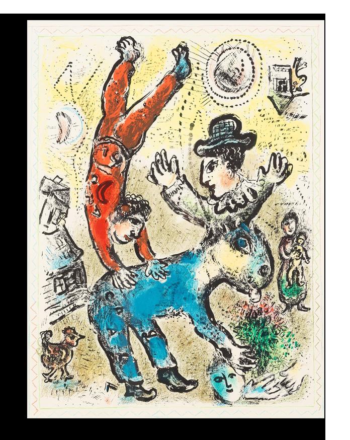 """Марк Шагал Репродукция """"Шагал - Цирковое представление"""" Х76.png"""
