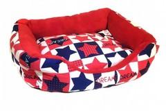 Прямоугольный лежак для животных Звёздочки, 40х32х10 см