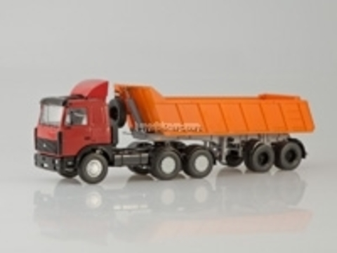 MAZ-6422 with semitrailer-tipper MAZ-9506-20 1:43 Start Scale Models (SSM)