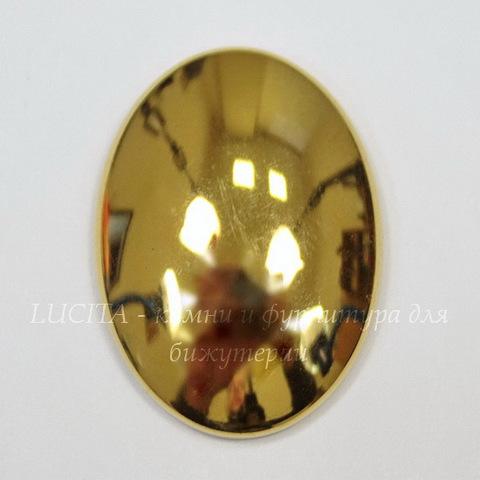 Кабошон овальный Гематит немагнитный золотой, 30х22 мм