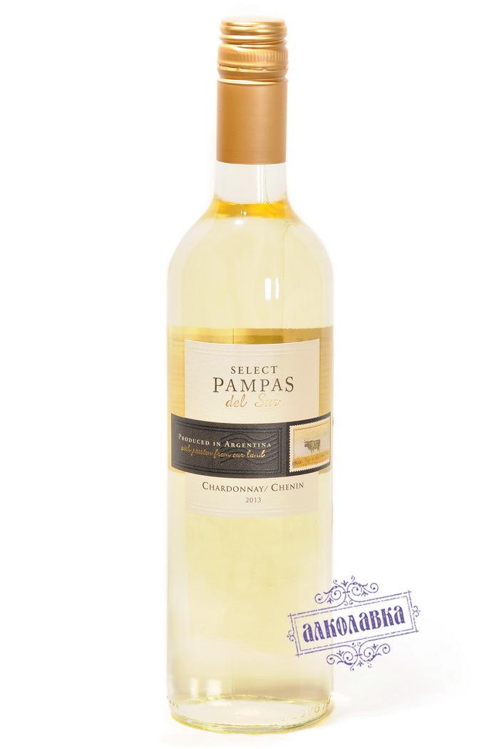 Вино Мендоса Пампас Дель Сур Селект Шардоне белое сухое 0,75л 14%