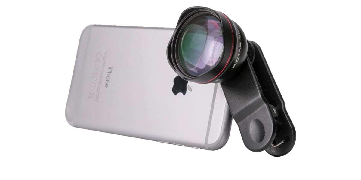 Телеобъектив Pictar Smart Lens Telephoto 60 на смартфоне