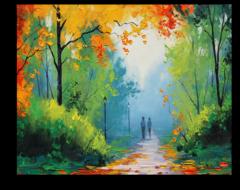 """Постер """"Золотистые листья"""""""