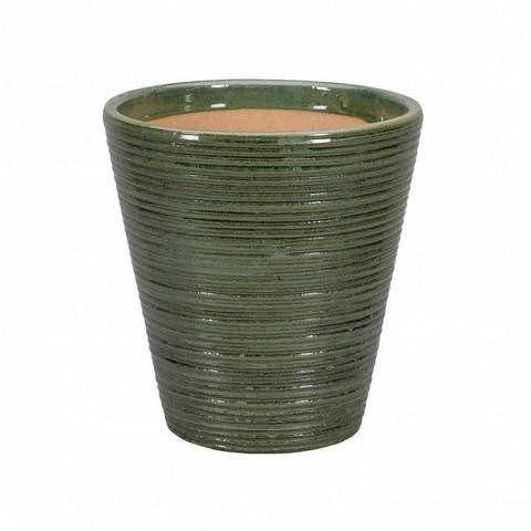 Кашпо Sicilia (керамика), D20xH22см зелёный антик
