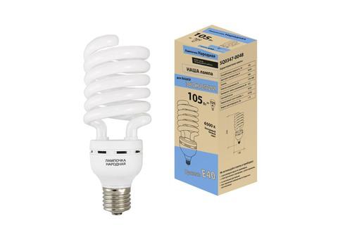 Лампа люминесцентная НЛ-HS-105 Вт-6500 К–Е40