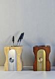 Органайзер-подставка настольный для канцелярских принадлежностей Sharpener темное дерево Suck UK SK PENCILPOT3 | Купить в Москве, СПб и с доставкой по всей России | Интернет магазин www.Kitchen-Devices.ru