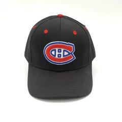 Кепка с вышитым логотипом Монреаль Канадиенс (Бейсболка Montreal Canadiens) черная