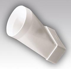 Соединитель прямой 204х60/125 мм пластиковый