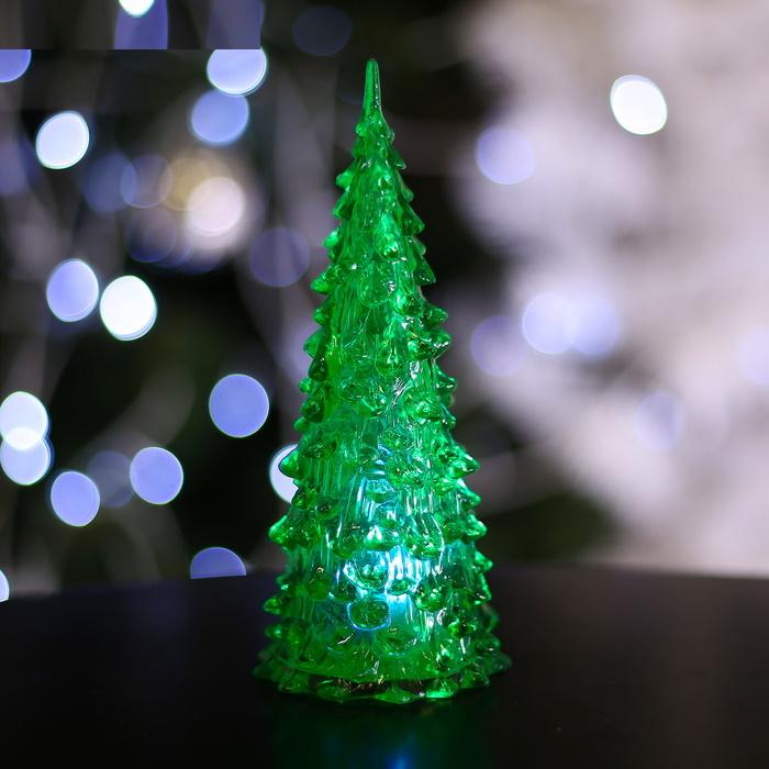 Зелёная Ёлочка Игрушка световая (батарейки в комплекте) 17 см, 1 LED, RGB в подарочной коробочке фото