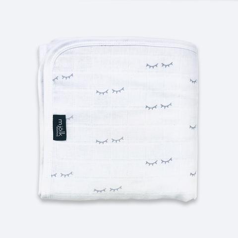 Муслиновое утеплённое одеяло Mjölk Basic Глазки