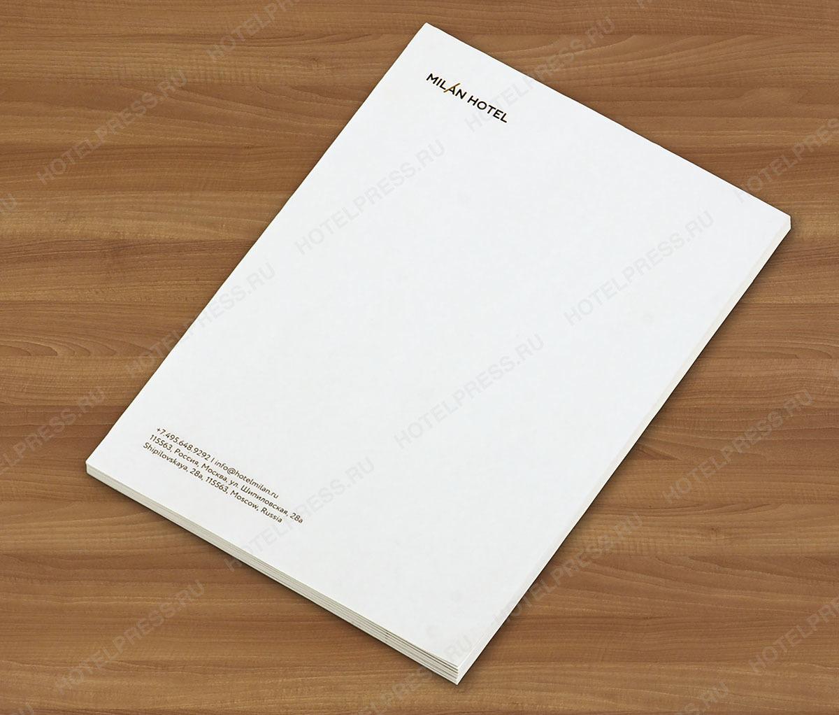 Блокнот А6 (105 х 147 мм) 50 листов с логотипом