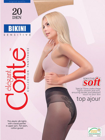 Conte Bikini Колготки женские 20d, p.3  grafit