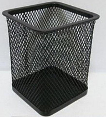 Подставка для ручек квадратная 80*80*110 черная