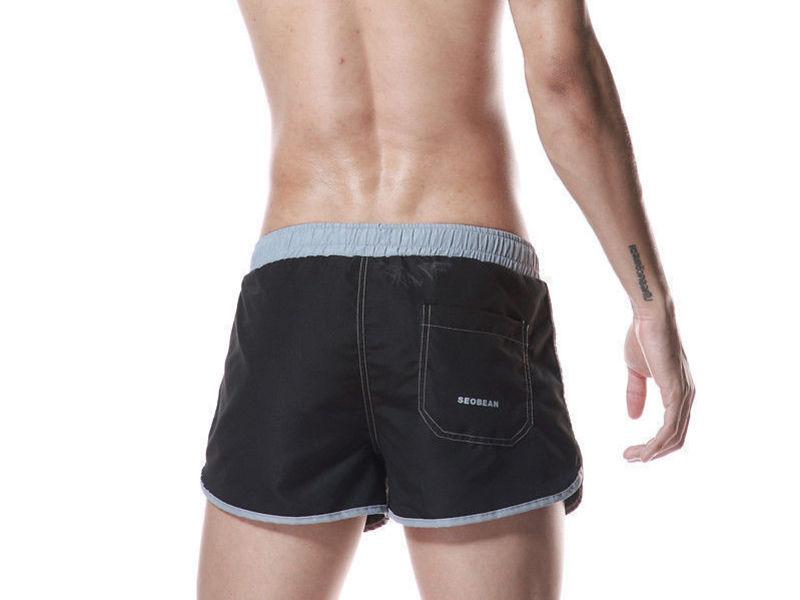 Мужские шорты спортивные черные Seobean Running Athletic Black