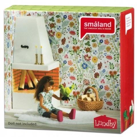 Кукольная мебель Lundby Смоланд.Камин с декором 60305100
