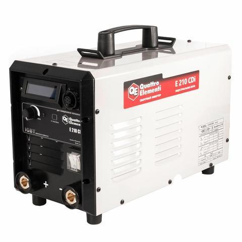 Аппарат электродной сварки, инвертор QUATTRO ELEMENTI E 210 (200 А, ПВ 70%, до 5 мм, Диспл (641-701)
