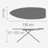 Гладильная доска 135 Х 45 см, артикул 321801, производитель - Brabantia, фото 4