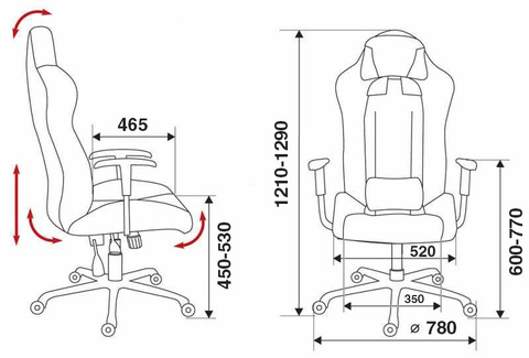 CH-773 Кресло игровое (Бюрократ)