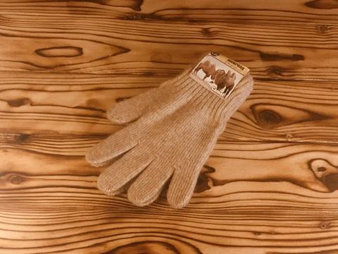 перчатки из верблюжьей шерсти светло- коричневый цвет фото1